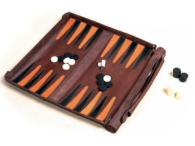 Leathersafe Roll & Play Backgammon